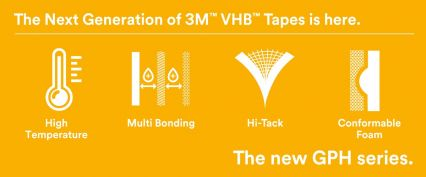 The new 3M™ VHB™ GPH series