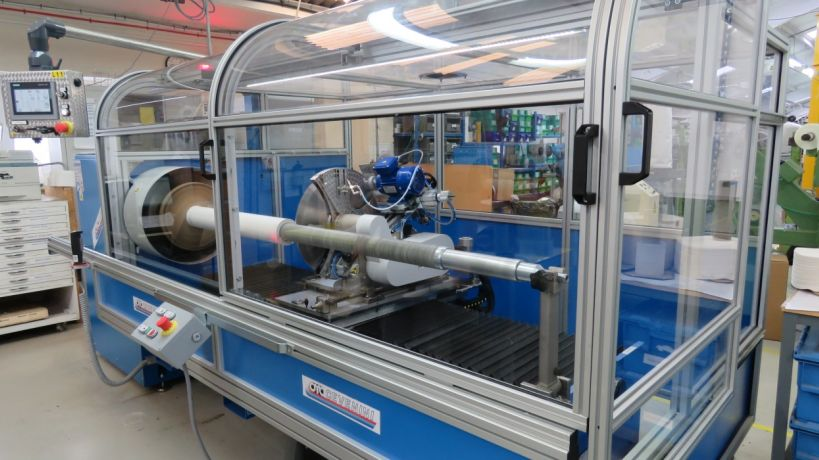 Upgraded lathe slitter at Parafix UK