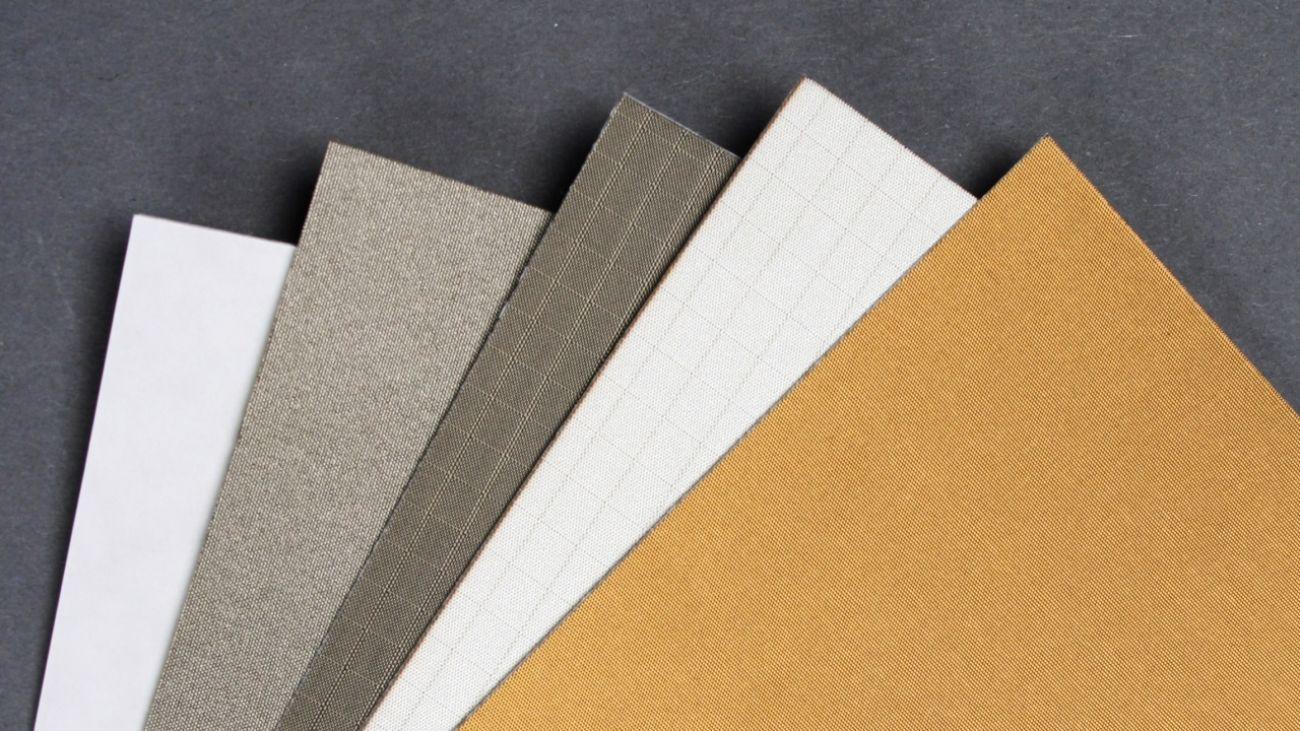 Metallised fabric materials