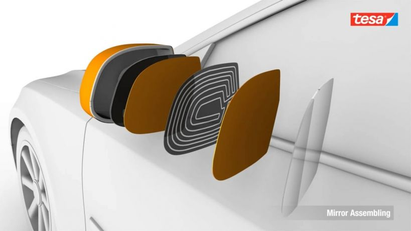Die-cut tape solutions for automotive bonding applications